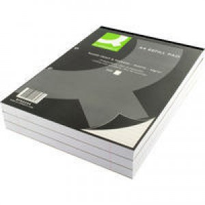 Q-Connect Refill Pad A4 Ruled Feint and Margin Punched 2-Hole Head Bound 200 Leaf