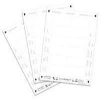 Q-Connect Name Badge Inserts 40x75mm 25 Sheets x 12 Inserts