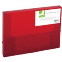 Q-Connect Elasticated Box File Red
