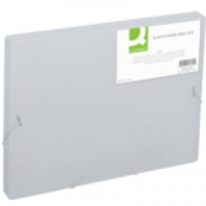 Q-Connect Elasticated Box File Clear