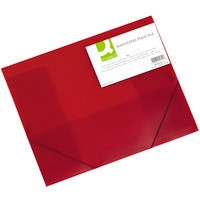 Q-Connect Elasticated Folio A4 Red