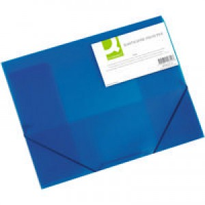 Q-Connect Elasticated Folio A4 Blue