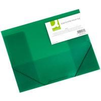 Q-Connect Elasticated Folio A4 Green