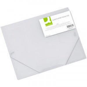 Q-Connect Elasticated Folio A4 Clear