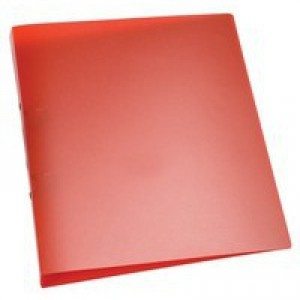 Q-Connect 2-Ring Binder A4 Frosted Red