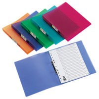 Q-Connect 2-Ring Binder A4 Frosted Assorted Pack of 12