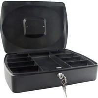 Q-Connect Cash Box 10 inch Black