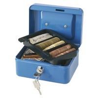 Q-Connect Cash Box 6 inch Blue