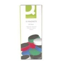 Q-Connect Magnet 25mm Assorted Pack of 10