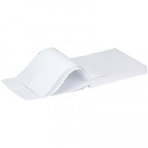Q-Connect Listing Paper 11 inches x241mm 3-Part NCR Perforated Plain Pack of 700