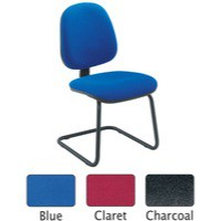 Jemini Medium Back Visitor Chair Charcoal