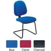 Jemini High Back Visitors Chair Charcoal