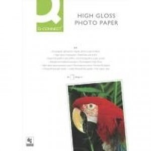 Q-Connect A4 High Gloss Photo Paper 260gsm Pack of 50 KF02772
