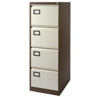 Jemini 4-Drawer Filing Cabinet Coffee/Cream