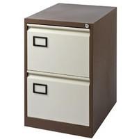 Jemini 2-Drawer Filing Cabinet Coffee/Cream