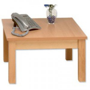 Arista Square Reception Table 600mm Beech PS1350
