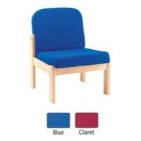 Arista Reception Seat Beech Veneer Claret PY16