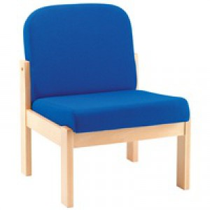 Arista Reception Seat Beech Veneer Blue PY05