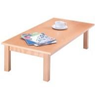 Arista Rectangular Reception Table 1100x600mm Beech PS1351