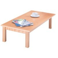 Arista Rectangular Reception Table 1100x600mm Beech