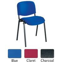 Jemini Ultra Multi-Purpose Stacking Chair Black Legs/Charcoal