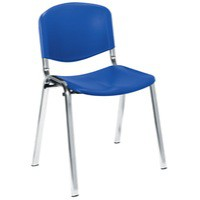 Jemini Ultra Multi-Purpose Stacking Chair Chrome Legs/Blue