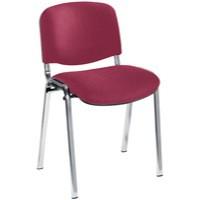 Jemini Ultra Multi-Purpose Stacking Chair Chrome Legs/Claret