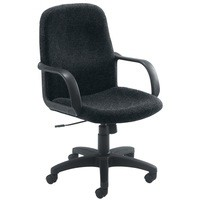 Jemini Managers Visitor Star Leg Chair Charcoal