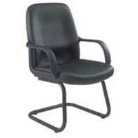 Jemini Rhone Leather Look Visitor Chair Cantilever Legs Black