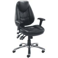 Avior Calabria Leather Look Operator Chair Black