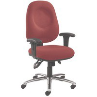 Arista Concept High Back Tilt Operators Chair Claret