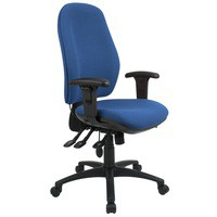 Cappela High Back Posture Chair Blue