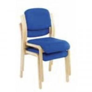 Jemini Wood Frame Side Chair No Arms Blue KF03512