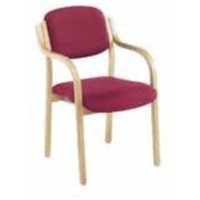 Jemini Wood Frame Side Chair with Arms Claret