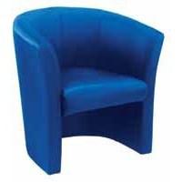 Arista Tub Fabric Chair Blue