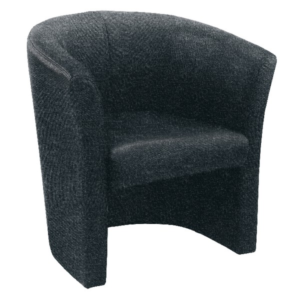 Arista Tub Fabric Chair Charcoal