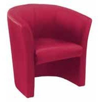 Arista Tub Fabric Chair Claret