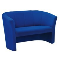 Arista Tub Fabric Chair 2 Seat Blue