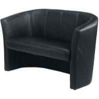 Arista Tub Fabric Chair 2 Seat Claret