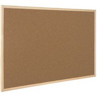 Q-Connect Cork Board Wooden Frame 600x900mm
