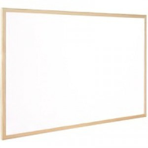 Q-Connect Whiteboard Wooden Frame 900x600mm KF03571