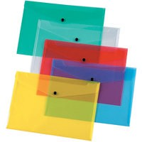 Q-Connect Document Folder Polypropylene A4 Assorted Pack of 12