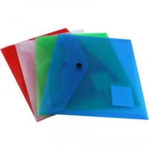 Q-Connect Document Folder Polypropylene A5 Assorted Pack of 12 KF03609