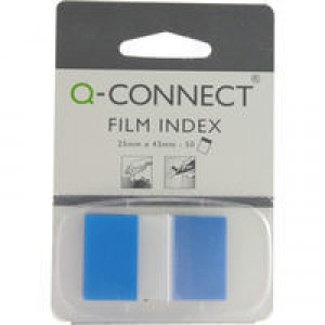 Q-Connect Page Marker 1 inch Pack of 50 Blue KF03632