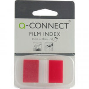 Q-Connect Page Marker 1 inch (Pk 50) Red KF03633