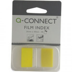 Q-Connect Page Marker 1 inch Pack of 50 Yellow KF03634