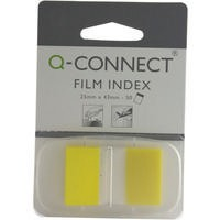 Q-Connect Page Marker 1 inch Pack of 50 Yellow