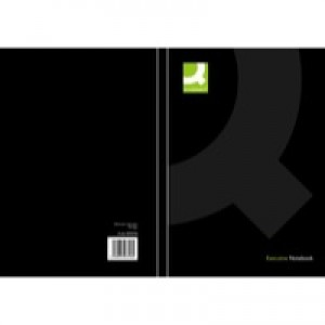 Q-Connect Casebound Book A5 Black KF03726