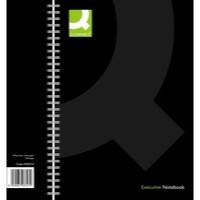 Q-Connect Wirebound A4 Hardback Notebook Black