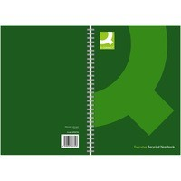 Q-Connect Wirebound Book Recycled A5 Black